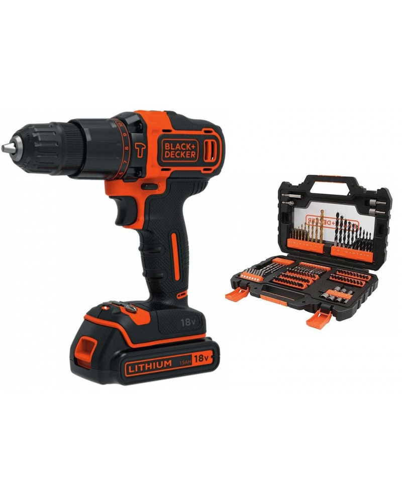 Black&Decker 18V Hammer Drill+104Accesories