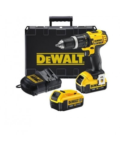 DEWALT - DCD785M2 Κρουστικό Δραπανοκατσαβίδο 18V XR με δυο μπαταρίες 4.0Ah compact και φορτιστή + θήκη μεταφοράς