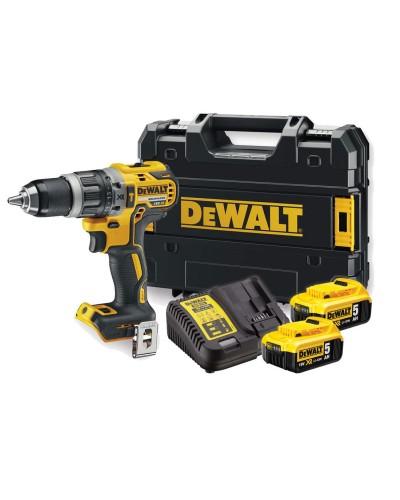 DEWALT - DCD796P2 Κρουστικό Δραπανοκατσαβίδο 18V XR Li-Ion Brushless με δυο μπαταρίες 5.0Ah και φορτιστή + θήκη μεταφοράς
