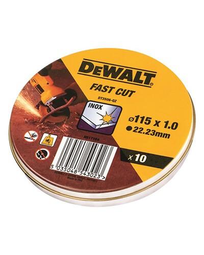 DEWALT DT3506 ΔΙΣΚΟΣ ΚΟΠΗΣ INOX Ø115X1MM 10ΤΕΜ/ΚΟΥΤΙ