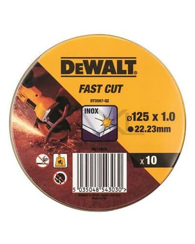 ΔΙΣΚΟΣ ΚΟΠΗΣ DEWALT DT3507 INOX Ø125X1MM 10ΤΕΜ/ΚΟΥΤΙ