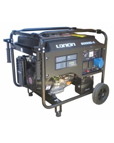 Γεννήτρια LONCIN 8KVA 14HP Βενζινοκίνητη με ηλεκτρικό σύστημα εκκίνησης