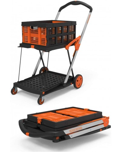 Black & Decker Double Platform Trolley + Basket